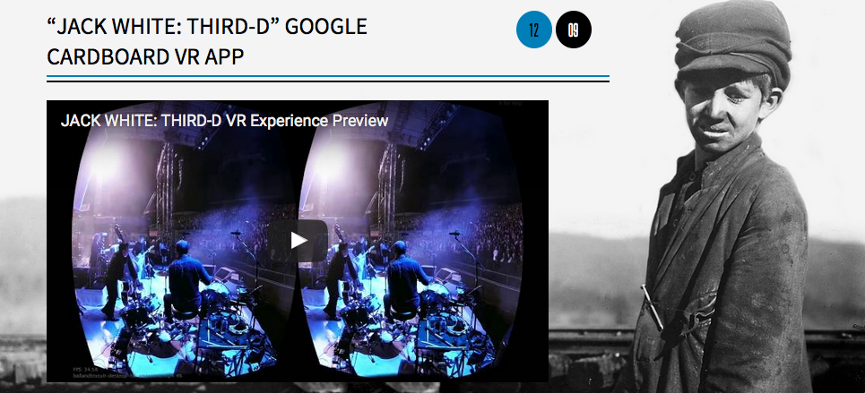 "JACK WHITE: THIRD-D"" Google Cardboard virtual reality"