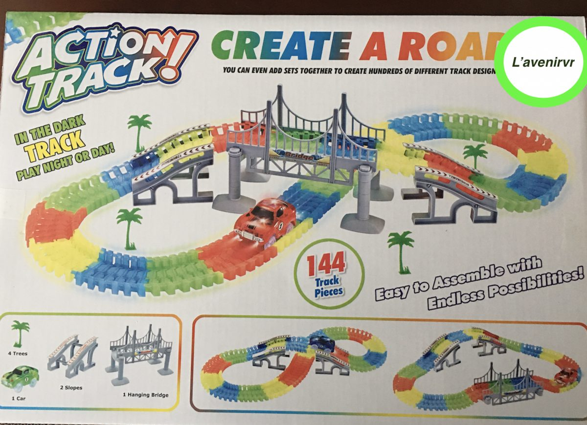STEM LEARNING TOY- glow in the dark train tracks with cars 144